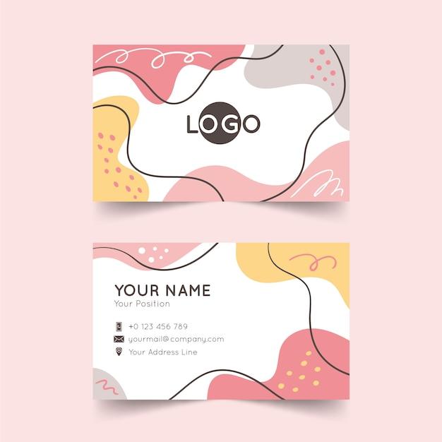 Cartão abstrato da empresa com elementos pintados Vetor grátis