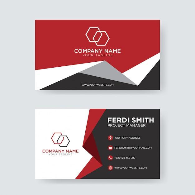 Cartão abstrato do negócio Vetor Premium