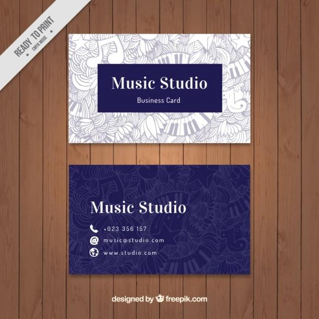 Cartão artístico do estúdio de música Vetor grátis