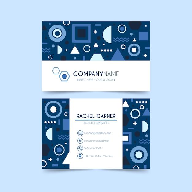 Cartão azul clássico do circuito da tecnologia Vetor grátis