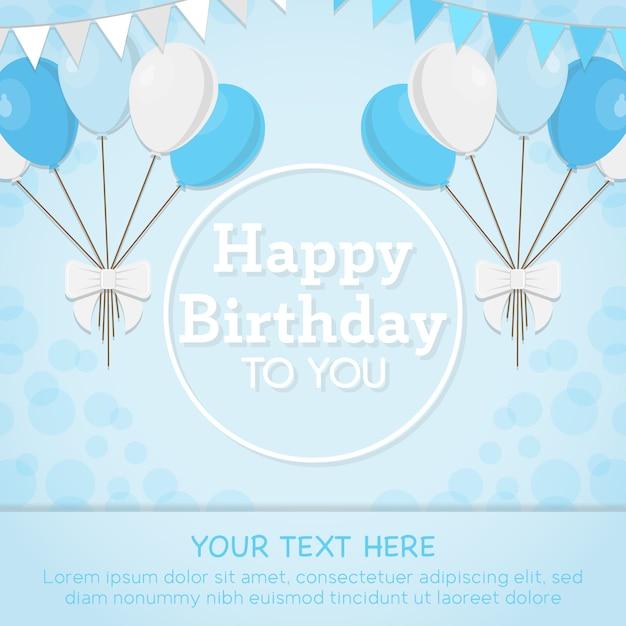 Cartão azul do feliz aniversario  afe9e9c043313