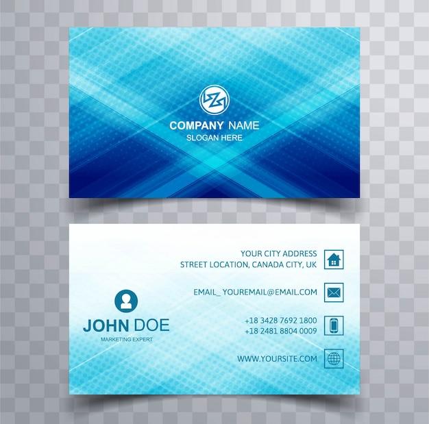Cartão azul Vetor grátis