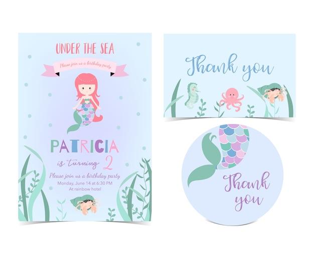 Cartão bonito desenhado de mão Vetor Premium