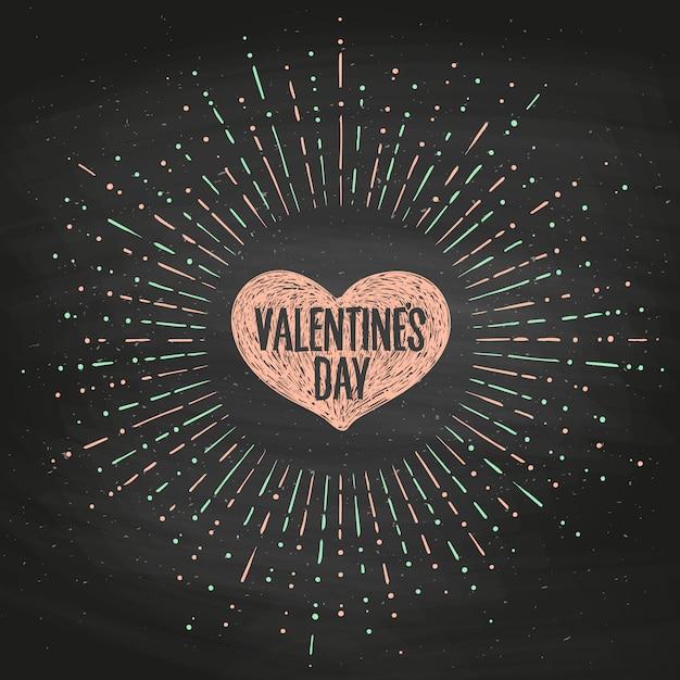 Cartão com coração rosa e mensagem dia dos namorados. Vetor Premium
