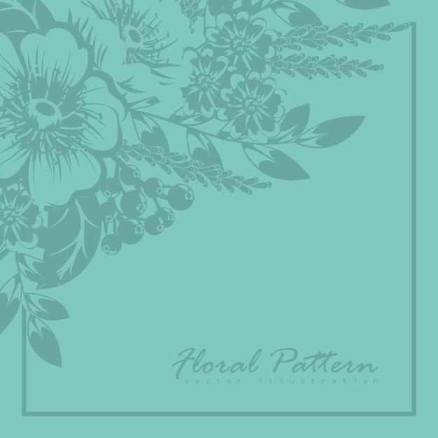 Cartão com flores, aquarela. quadro de vetor Vetor grátis