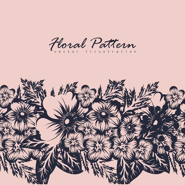 Cartão com flores, aquarela. Vetor grátis