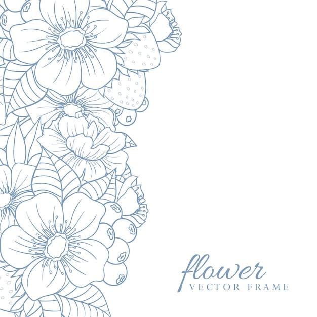 Cartão com flores Vetor grátis