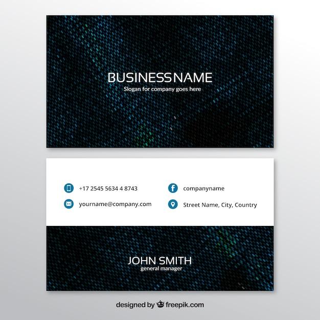 Cartão com textura escura Vetor grátis