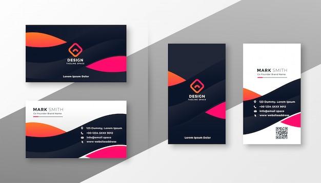 Cartão corporativo elegante para o seu negócio Vetor grátis