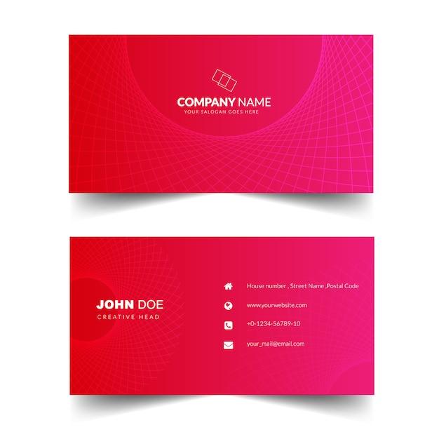 Cartão corporativo elegante Vetor Premium
