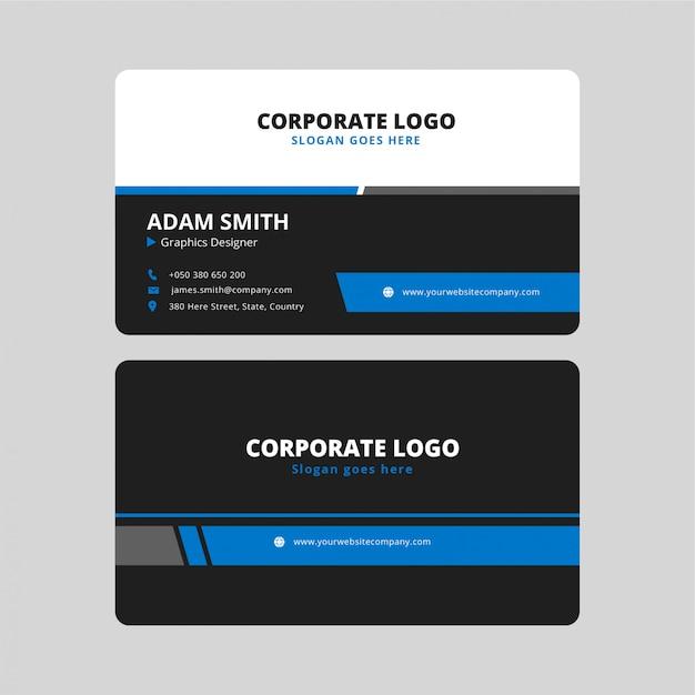 Cartão corporativo exclusivo Vetor Premium