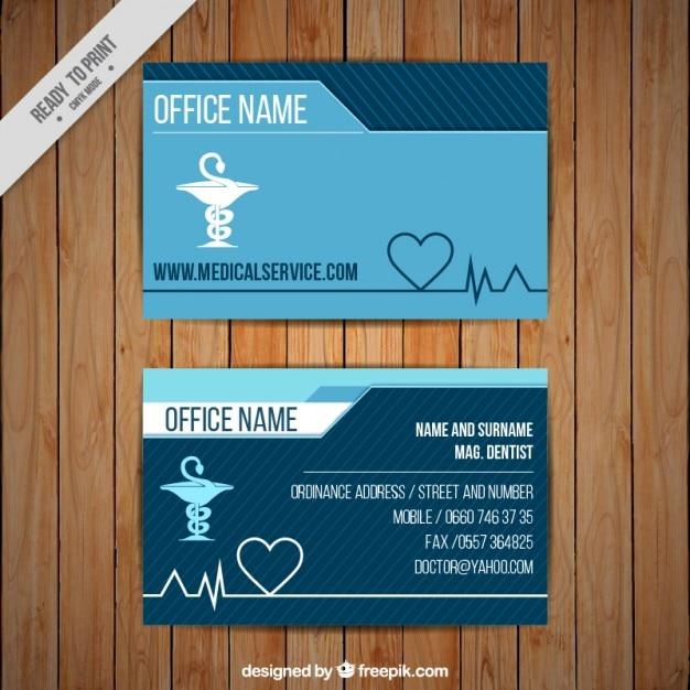 Cartão corporativo médica com o símbolo caduceu Vetor grátis