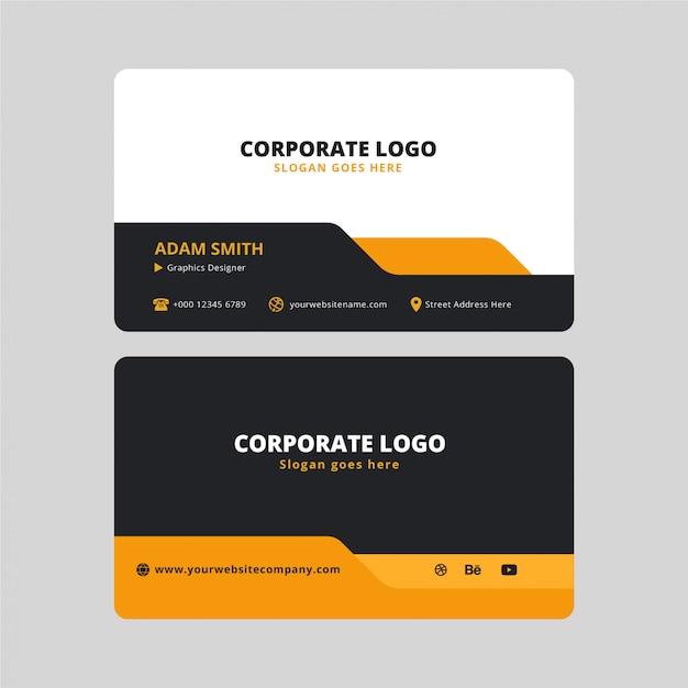 Cartão corporativo moderno Vetor Premium