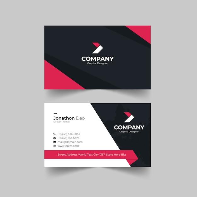 Cartão corporativo Vetor Premium