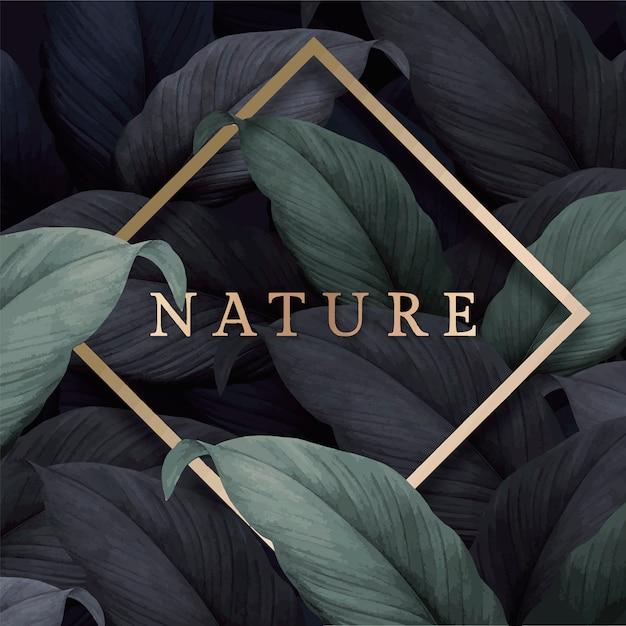 Cartão da natureza Vetor grátis