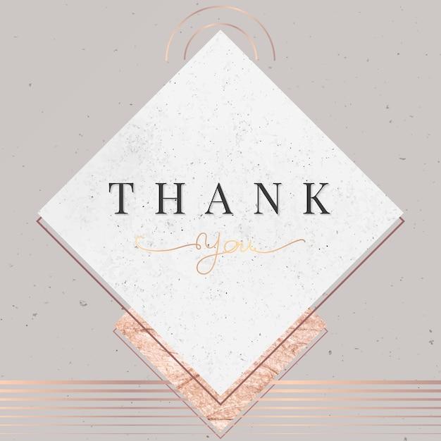 Cartão de agradecimento Vetor grátis