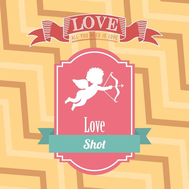 Cartão de amor Vetor Premium