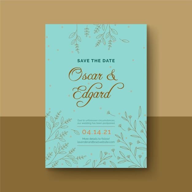 Cartão de aniversário de casamento Vetor grátis