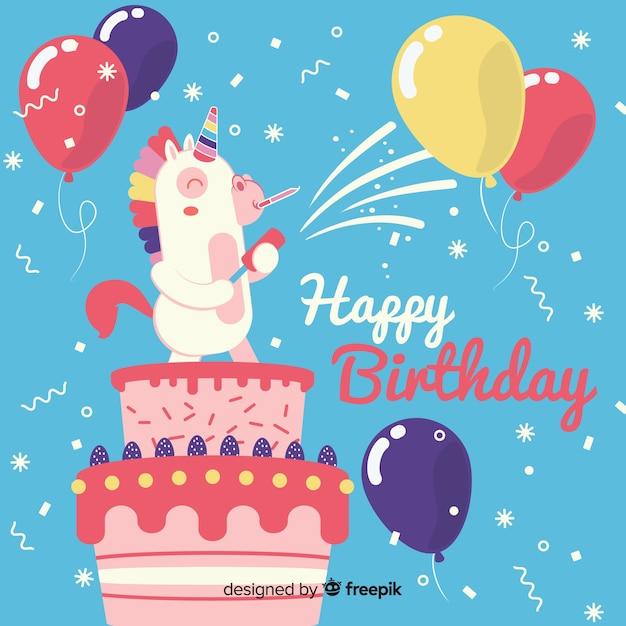 Cartão de aniversário divertido Vetor grátis