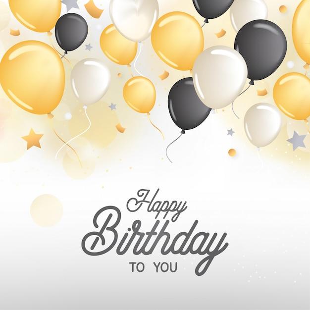 Cartão de aniversário Vetor grátis
