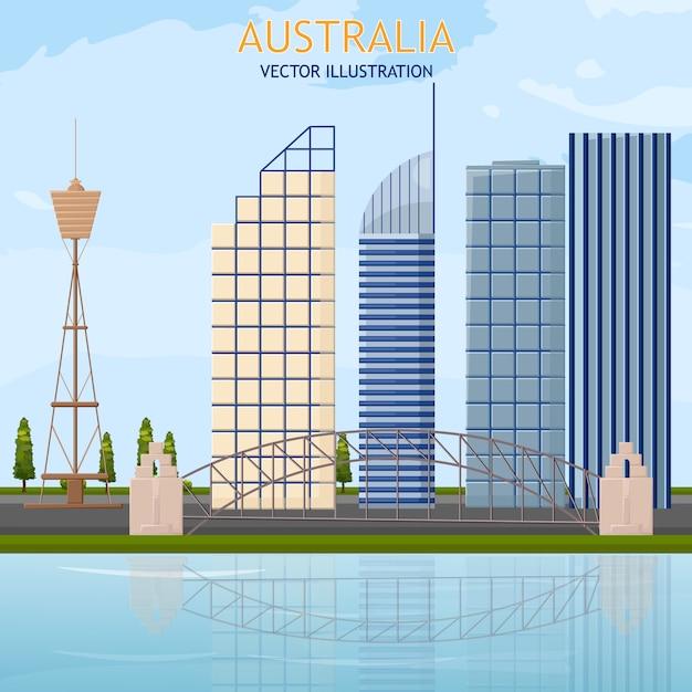 Cartão de arquitetura da austrália Vetor Premium