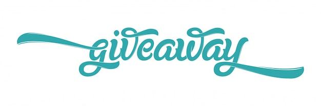Cartão de banner de oferta com letras para mídias sociais. caligrafia de escova moderna. letras de mão desenhada. ilustração para banners, anúncio, impressão, cartaz. Vetor Premium