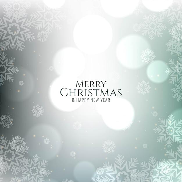 Cartão de bokeh festivo decorativo de feliz natal Vetor grátis