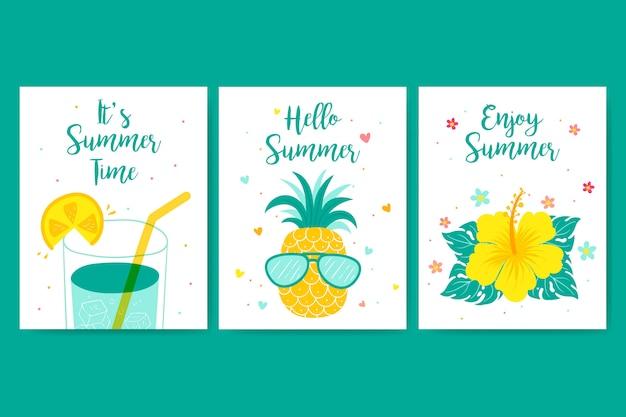 Cartão de bom verão Vetor grátis