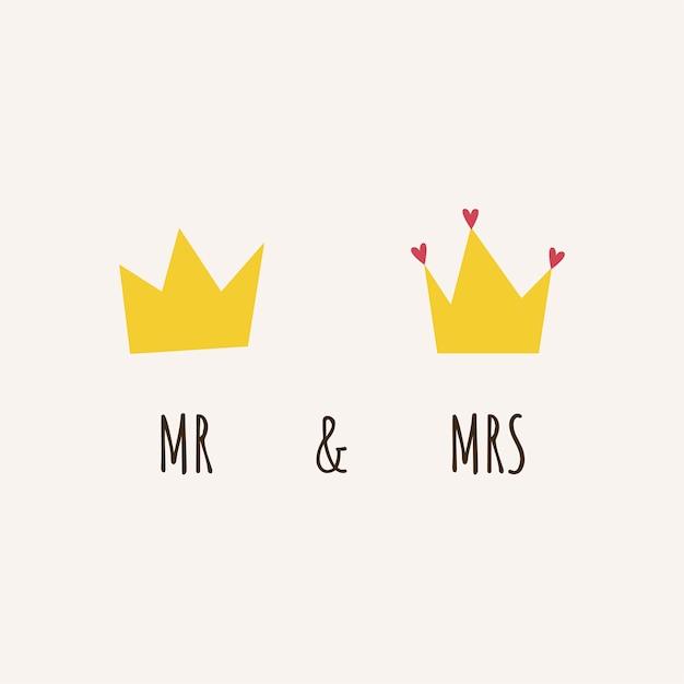 Cartão de casamento Vetor grátis