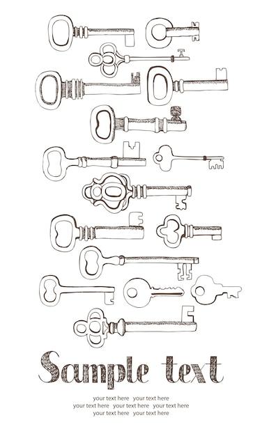 Cartão de chaves Vetor grátis