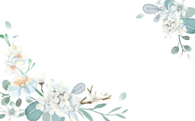 Cartão de convite com um tema azul claro Vetor grátis