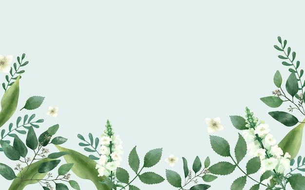 Cartão de convite com um tema verde Vetor grátis