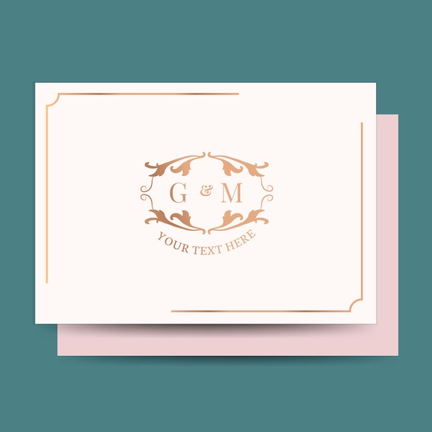 Cartão de convite de casamento clássico Vetor grátis