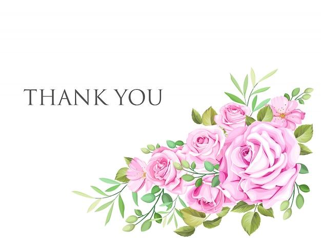 Cartão de convite de casamento com grinalda floral e folhas Vetor Premium