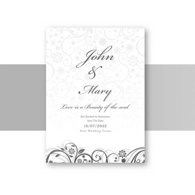 Cartão de convite de casamento elegante abstrata Vetor grátis