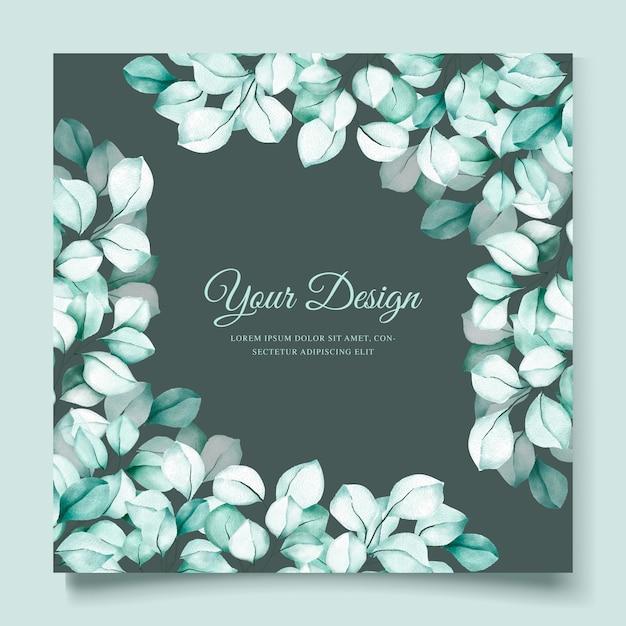 Cartão de convite de eucalipto aquarela elegante Vetor grátis