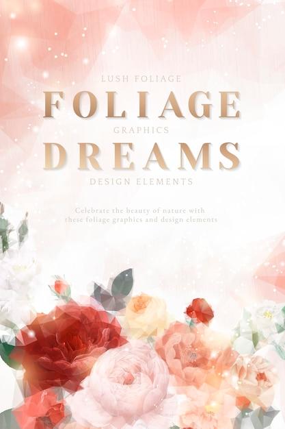 Cartão de convite floral sonhador Vetor grátis
