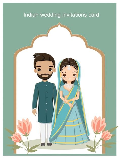 Cartão de convites de casamento Vetor Premium