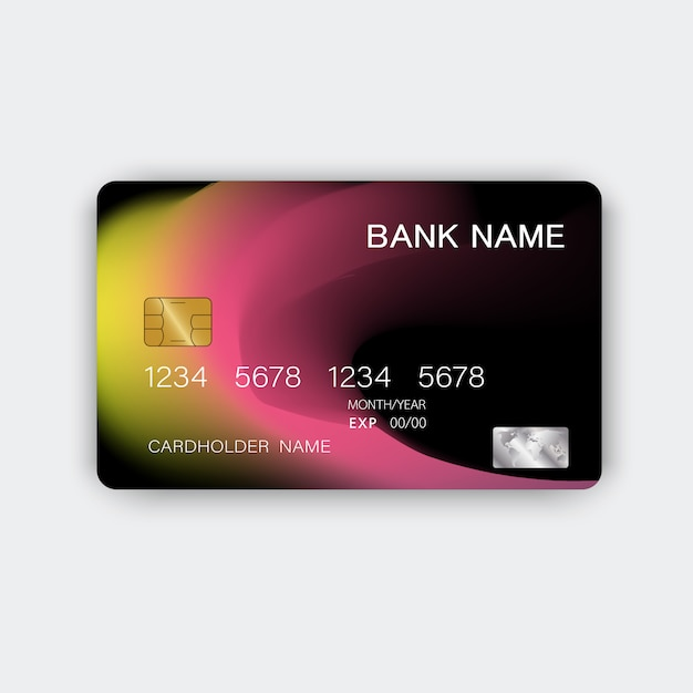 Cartão de crédito. com inspiração do resumo. Vetor Premium