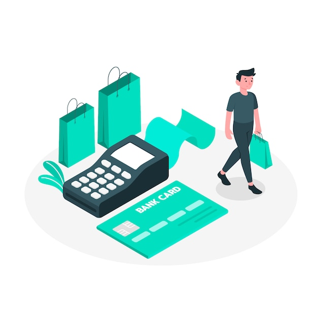 Cartão de crédito, conceito, ilustração Vetor grátis
