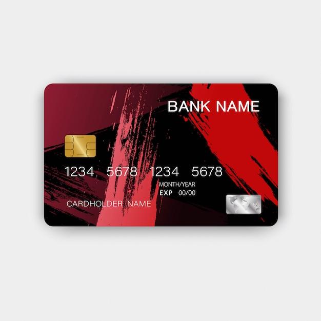 Cartão de crédito realista Vetor Premium