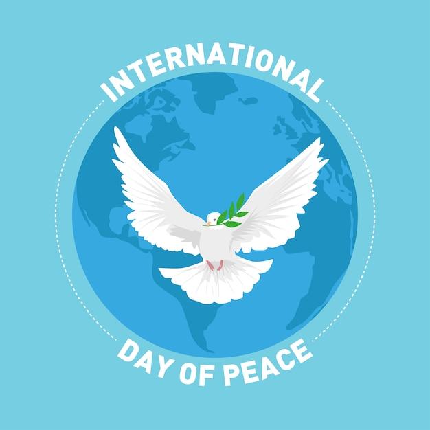 Cartão de cumprimentos do dia internacional da paz Vetor Premium