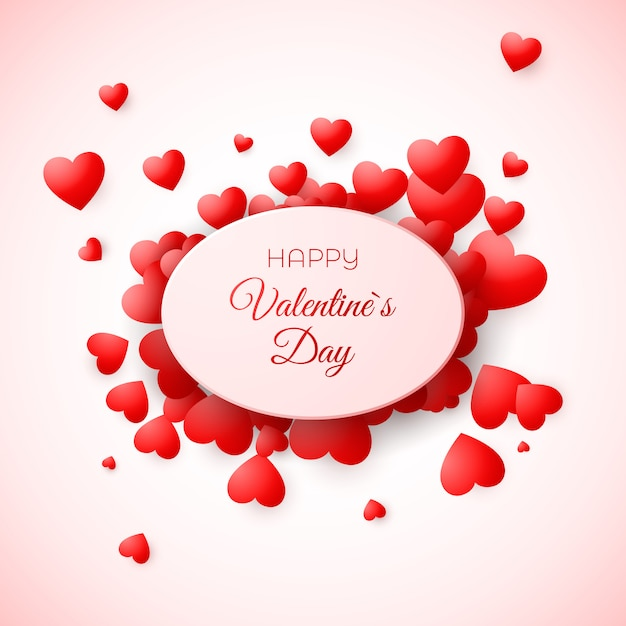 Cartão de dia dos namorados. amour e amor simbolizam o feriado. modelo de convite de casamento e outro evento. ilustração Vetor Premium