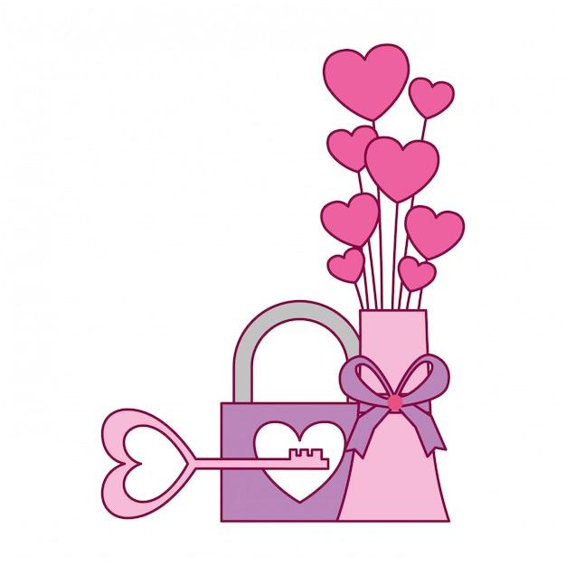 Cartão de dia dos namorados Vetor Premium