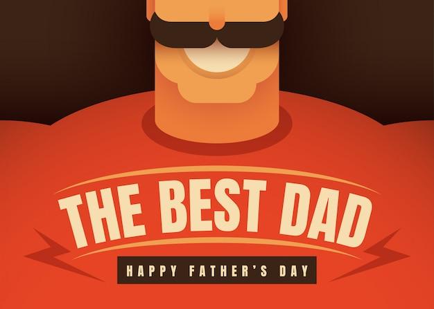 Cartão de dia dos pais Vetor Premium