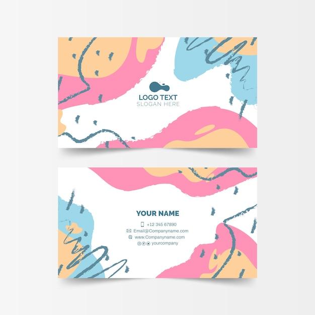 Cartão de empresa pintado abstrato Vetor grátis
