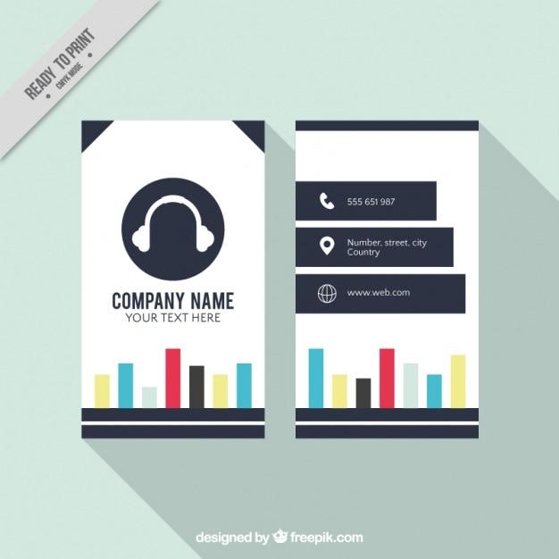Cartão de estúdio de música Vetor grátis