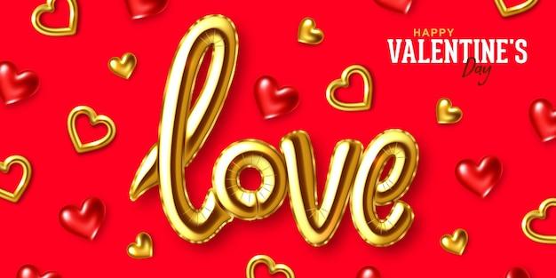 Cartão de felicitações para o feriado de são valentim Vetor Premium
