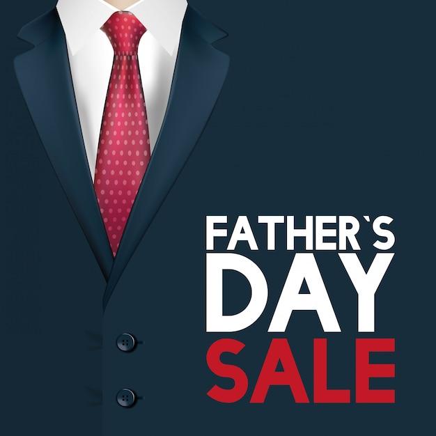 Cartão de feliz dia dos pais com elegante terno masculino Vetor Premium