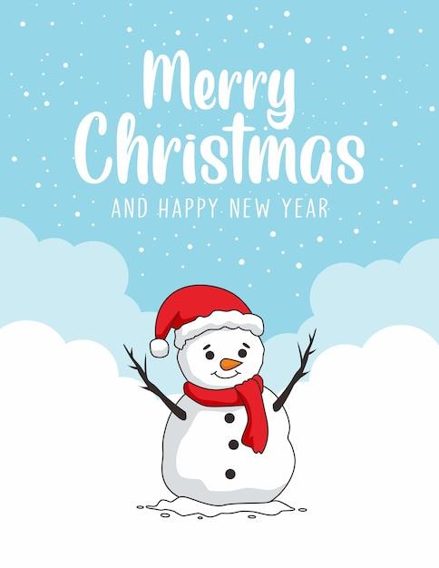 Cartão de feliz natal Vetor Premium